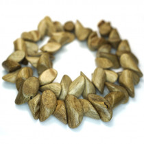 Greywood Pointed Nugget Wood Beads