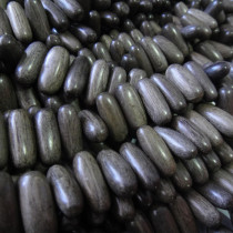 Greywood Oval 8x19mm Wood Beads