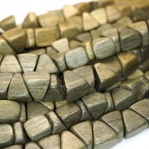 Greywood Triangle Nugget Wood Beads