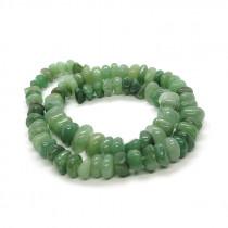 Green Aventurine Centre Drilled Chip Beads