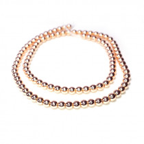 Rose Gold Hematite 4mm Round Beads