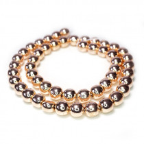 Rose Gold Hematite 8mm Round Beads