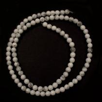 Howlite 4mm round beads