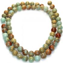 Impression Jasper 6mm Round Beads