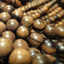 Kamagong (Tiger Ebony) 8mm Round Wood Beads