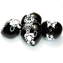 Kukui Nut Black With Aztec Man (Pack 4)