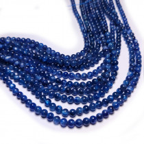 Blue Kyanite 4mm Round Beads