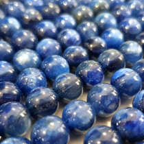 Blue Kyanite 8mm Round Beads