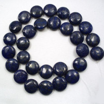 Lepidolite 14mm Coin Beads