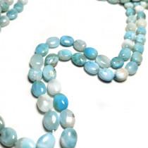 Larimar Oval 7x9mm Beads