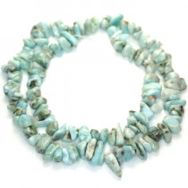 Larimar High Grade Chip Beads