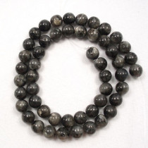 Larvikite 8mm Round Beads