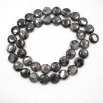 Larvikite 10mm Coin Beads