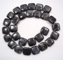 Larvikite 14mm Square Beads