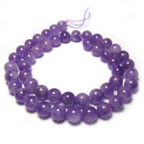 Lavender Amethyst 8mm Round Beads (darker batch)
