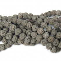 Dyed GreyLava Rock Beads 6mm