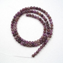 Lepidolite 4mm Round Beads