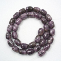 Lepidolite 9x12mm Drum Beads