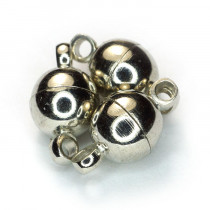 Brass Magnetic Clasp 6mm Round (Pack 3)