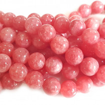 Malay Jade Rhodochrosite Colour 10mm Round Beads