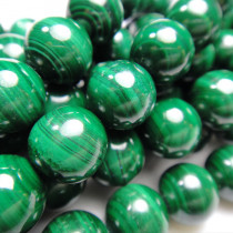 Malachite 10mm Round Beads