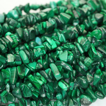 Malachite Chip Beads