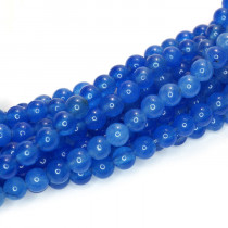 Malay Jade Blue 4mm Round Beads