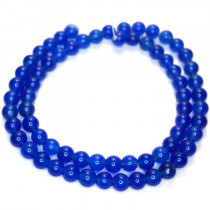 Malay Jade Blue 6mm Round Beads