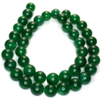 Malay Jade Emerald Green 10mm Round Beads