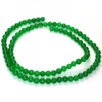 Malay Jade Emerald Green 4mm Round Beads