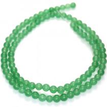 Malay Jade Green 4mm Round Beads
