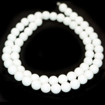 Malay Jade White 6mm Round Beads