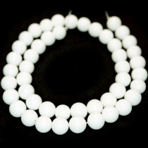 Malay Jade White 8mm Round Beads