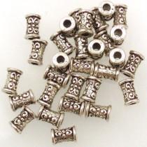 Tibetan Silver 15x7mm Beads (Pack 30)