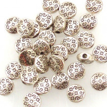 Tibetan Silver 7x3mm Beads (Pack 30)