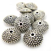 Tibetan Silver 11mm Studded Saucer Beads