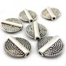 Tibetan Silver 15mm Disc Beads