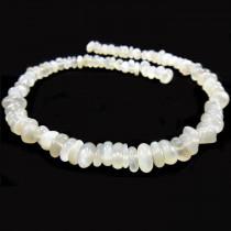Moonstone Light Grey Chip Beads