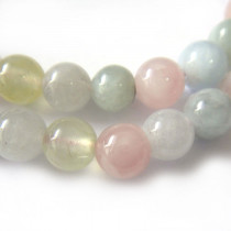 Morganite 6mm Round Beads