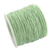 Mint Waxed Cotton Cord 1mm 90M Roll