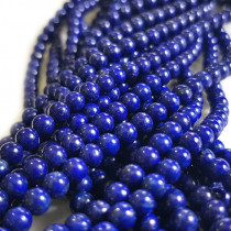 Natural Lapis Lazuli 4mm Round Beads