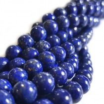 Natural Colour Lapis Lazuli 6mm Round Beads