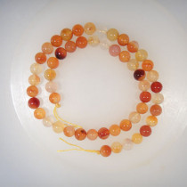 Natural Colour Carnelian 8mm Round Beads