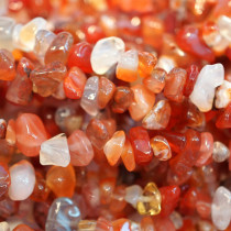 Natural Colour Carnelian Chip Beads