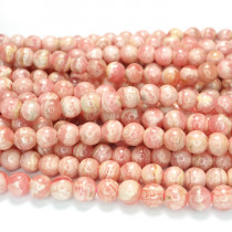 Rhodochrosite 5mm Round Beads