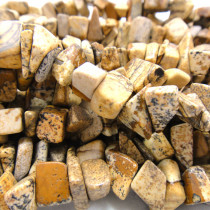 Picture Jasper Large Chip Beads
