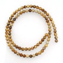 Picture Jasper 4mm Round Beads