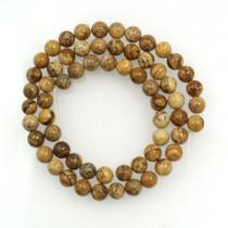 Picture Jasper 6mm Round Beads