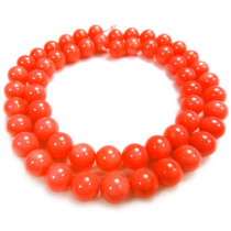 Pink Coral 7.5mm Round Beads