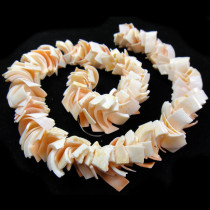Overlapping Pink Luhuanus Shell Beads